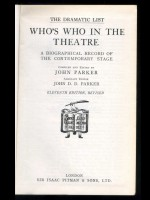 Who's Who in the Theatre 1952