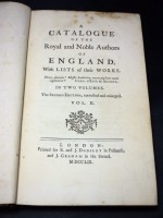 A Catalogue of the Royal and Noble Authors of England