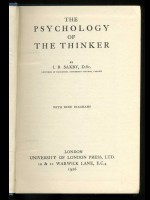 The Psychology of the Thinker (Signed copy)